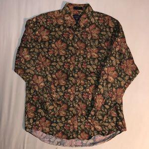 Vintage Chaps Ralph Lauren Floral Button Up